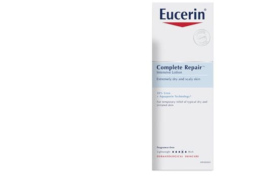Eucerin Complete Repair Intensive Lotion for temporary relief of typical dry and irritated skin.